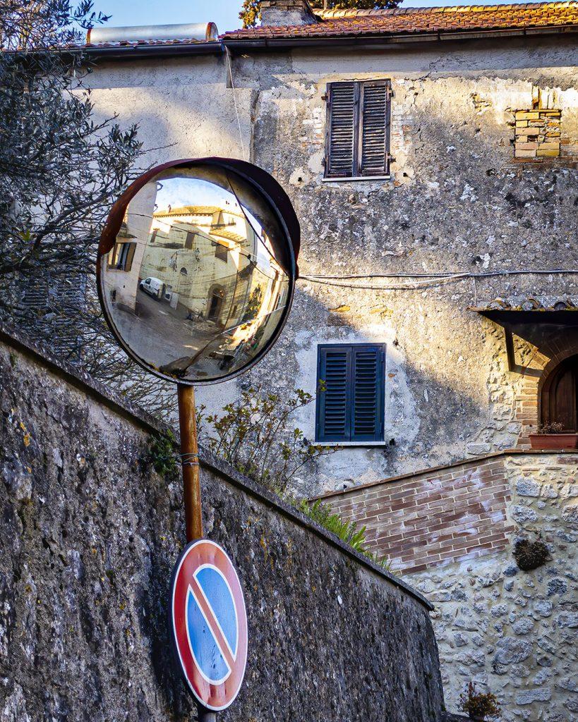 Traffic Mirror, Amelia, Umbria