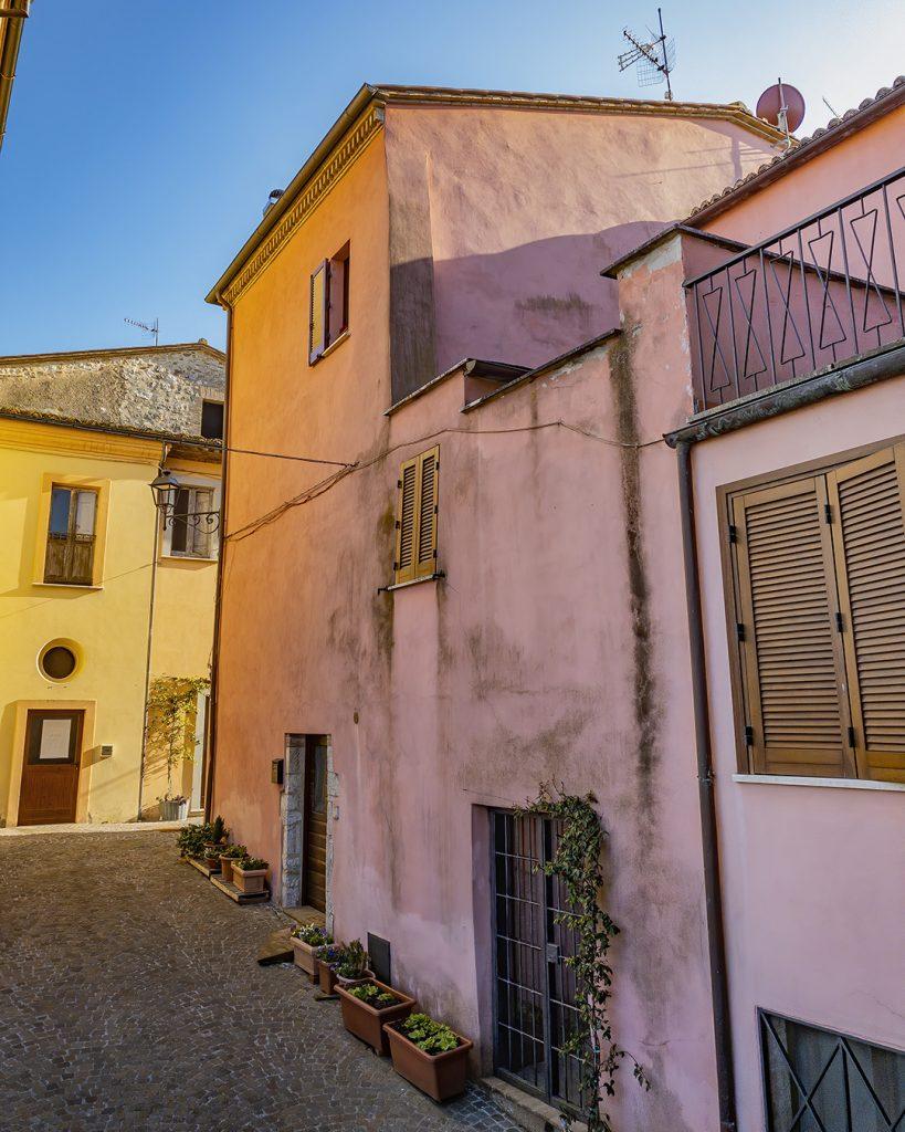 Pink Building, Castel Dell'Aquilla, Umbria