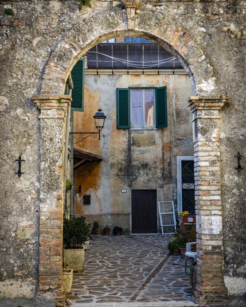 Courtyard, Castel Dell'Aquilla, Umbria
